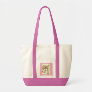 Pink French Theme Vintage Paris Tote Bag