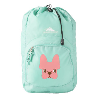 Pink Frenchie Backpack