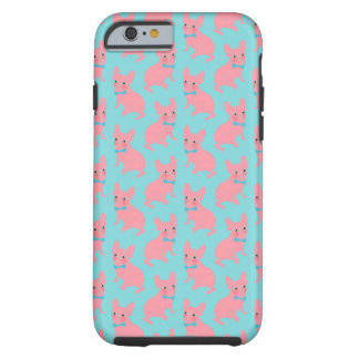Pink Frenchie - What's Up? Tough iPhone 6 Case