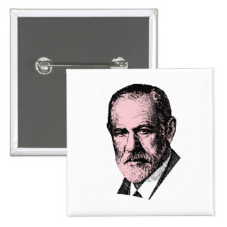 Pink Freud Sigmund Freud Buttons