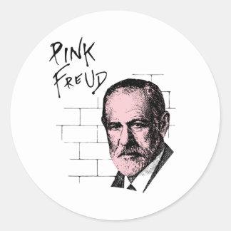 Pink Freud Sigmund Freud Round Sticker