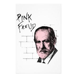 Pink Freud Sigmund Freud Stationery Design