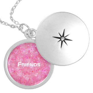 Pink Friends Locket Necklace
