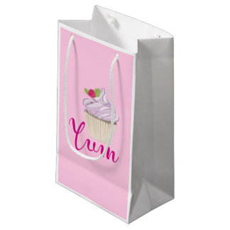Pink Frosted Cupcake Yum! Small Gift Bag