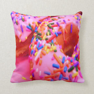 Pink Frosted Donuts Pillow