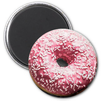 Pink Frosted Doughnut Fun Food Magnet