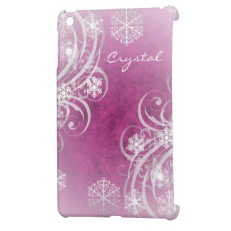 Pink Frosted Flourishes Winter Mini Ipad Case