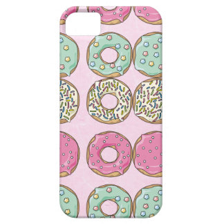 Pink Frosted Sprinkled Donuts Cell Phone Case