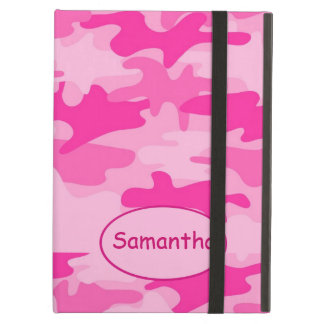 Pink Fuchsia Camo Camouflage Name Personalised Case For iPad Air
