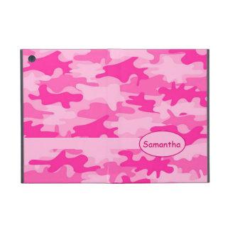 Pink Fuchsia Camo Camouflage Name Personalised iPad Mini Covers