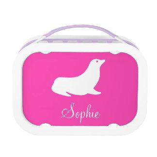 Pink Fuchsia Custom Pattern 4Sophie Lunch Box