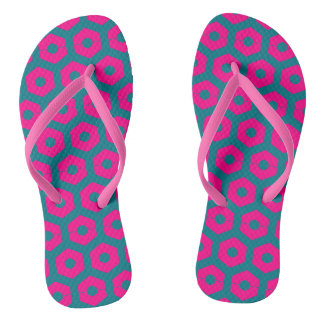 Pink Fuchsia Teal Playful 4Wanda Thongs