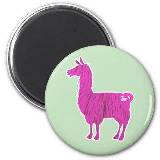 Pink Furry Llama Magnet