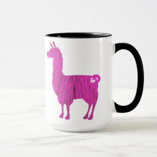 Pink Furry Llama Mug