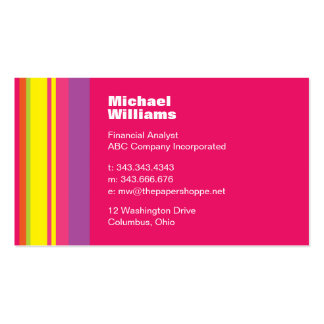 Pink Fuschia Fiesta Business Card