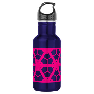 Pink Fuschia Pattern beach bum 532 Ml Water Bottle