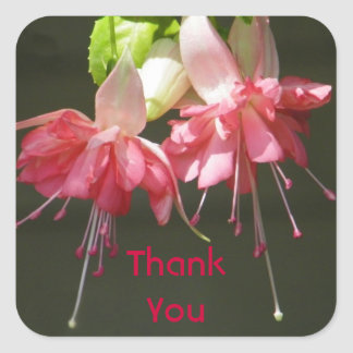 Pink Fuschia Thank You Stickers