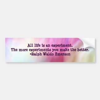Pink Fusion Frenzy Emerson Quote Bumper Sticker