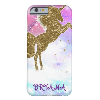 Pink Galaxy Magical Unicorn Cosmic Sparkle Barely There iPhone 6 Case