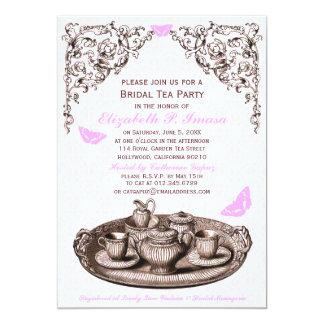 Pink Garden Bridal Tea Party Invitations