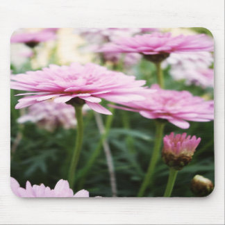 pink garden flower mouse pad