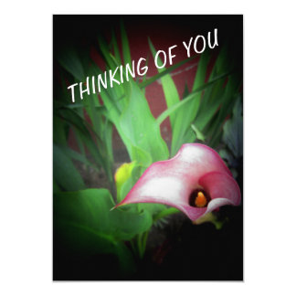 PINK GARDEN LILY PHOTO PRINT INVITATION CARDS