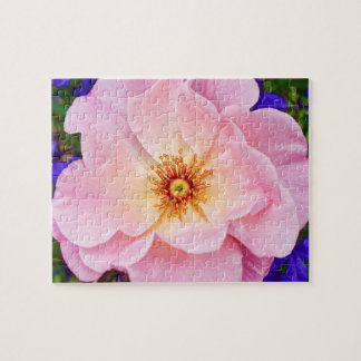 Pink Garden Rose Jigsaw Puzzle Gift