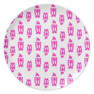 Pink Geisha Plate