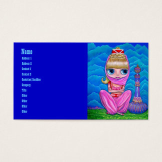 Pink Genie and Her Magic Bottle Business Card