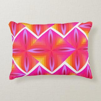 Pink geo' decorative cushion