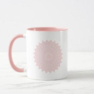 Pink Geometric Floral Motif Mug