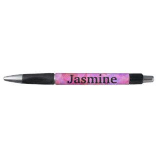 Pink Geometric Pattern Custom Name Pen