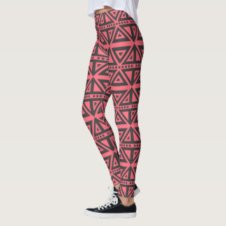 Pink Geometric Pattern Leggings