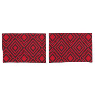 Pink Geometric Pattern Pillowcase Set