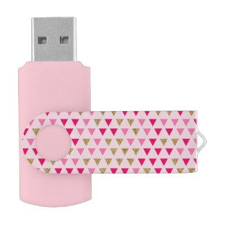 Pink geometric USB Flash Drive