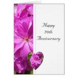 Pink Geranium 70th Wedding Anniversary