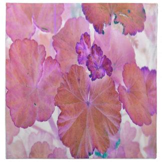 Pink Geranium Leaves Napkins