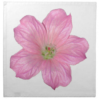 Pink Geranium Printed Napkin