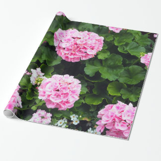 Pink Geraniums 185 Wrapping Paper