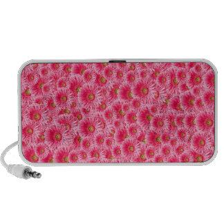 Pink Gerber Daisies Travel Speakers