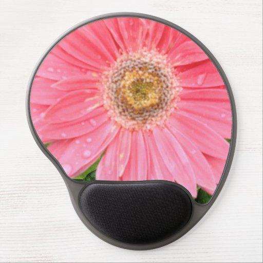 Pink Gerber Daisy Gel Mouse Pads