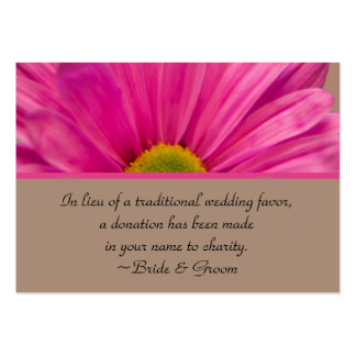 Pink Gerber Daisy Wedding Charity Favor Card Pack Of Chubby Business Cards
