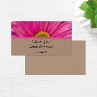 Pink Gerber Daisy Wedding Favor Tags Business Card