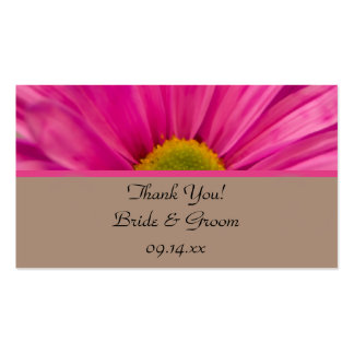 Pink Gerber Daisy Wedding Favor Tags Pack Of Standard Business Cards