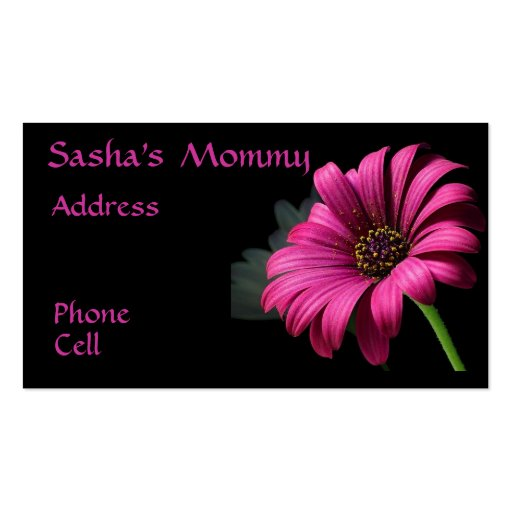 Pink Gerber Mommy Business Cards