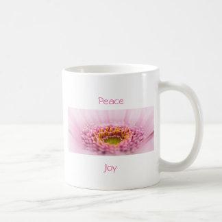 Pink Gerbera  daisy closeup Basic White Mug