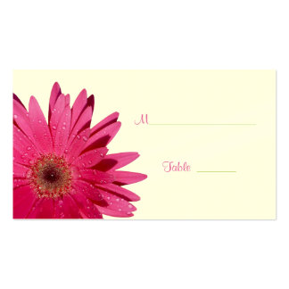 Pink Gerbera Daisy Cream Place Card Pack Of Standard Business Cards