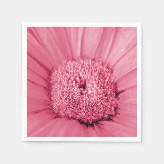 Pink Gerbera Daisy Disposable Serviettes