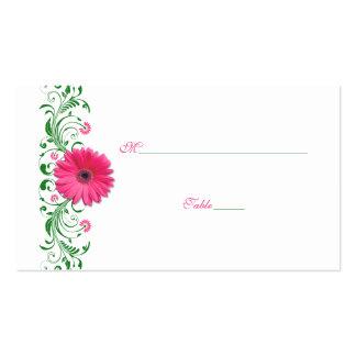 Pink Gerbera Daisy Green Wedding Place Card Pack Of Standard Business Cards