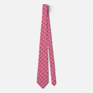Pink Gerbera Daisy Pattern Tie